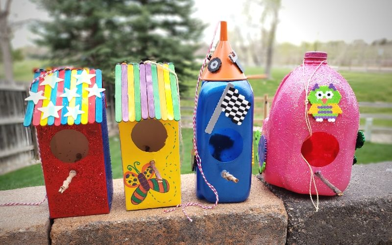 Homemade Birdhouses For Kids To Make | Frugal Fun Mom