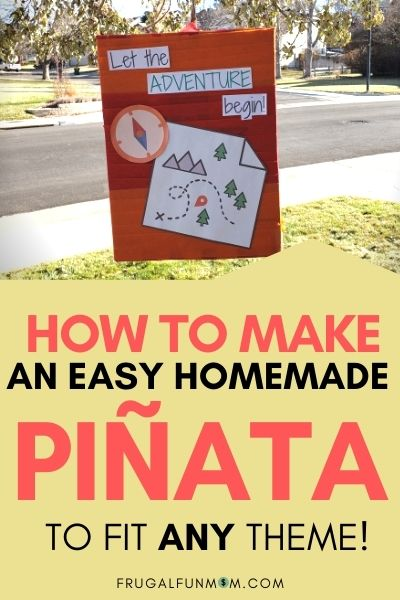 How To Make An Easy Homemade Pinata To Fit Any Theme! | Frugal Fun Mom