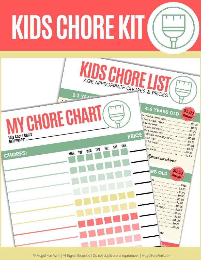 Kids Chore Kit | Frugal Fun Mom