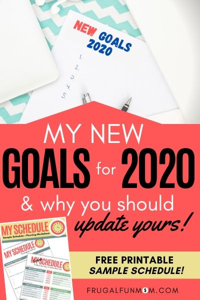 New Goals For 2020 & Why You Should Update Yours!   Frugal Fun Mom