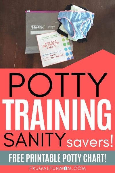 Potty Training Sanity Savers For Moms | Frugal Fun Mom