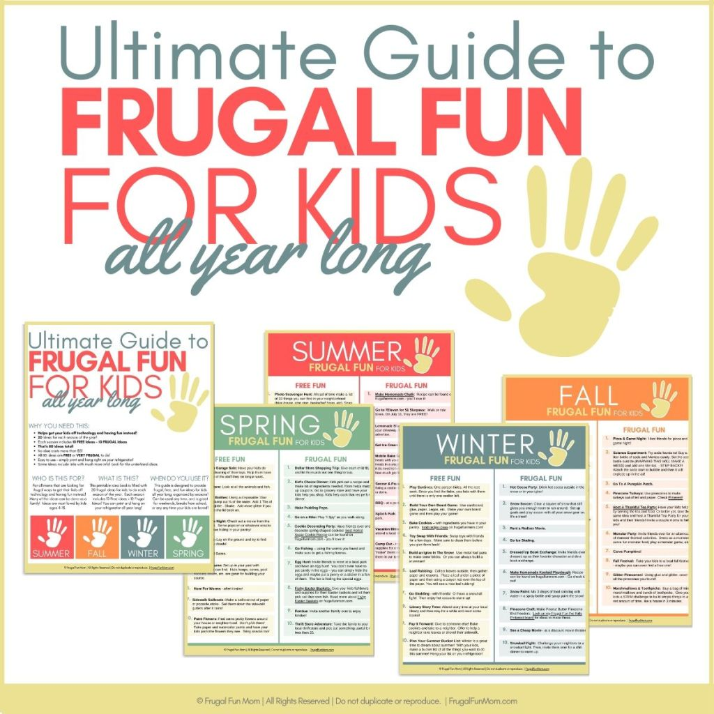Ultimate Guide Frugal Fun For Kids | Frugal Fun Mom