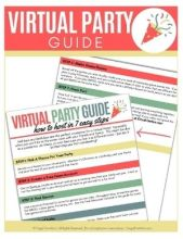 Virtual Party Guide | Frugal Fun Mom