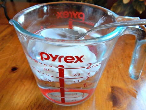 Measure butter/shortening by displacement of water.