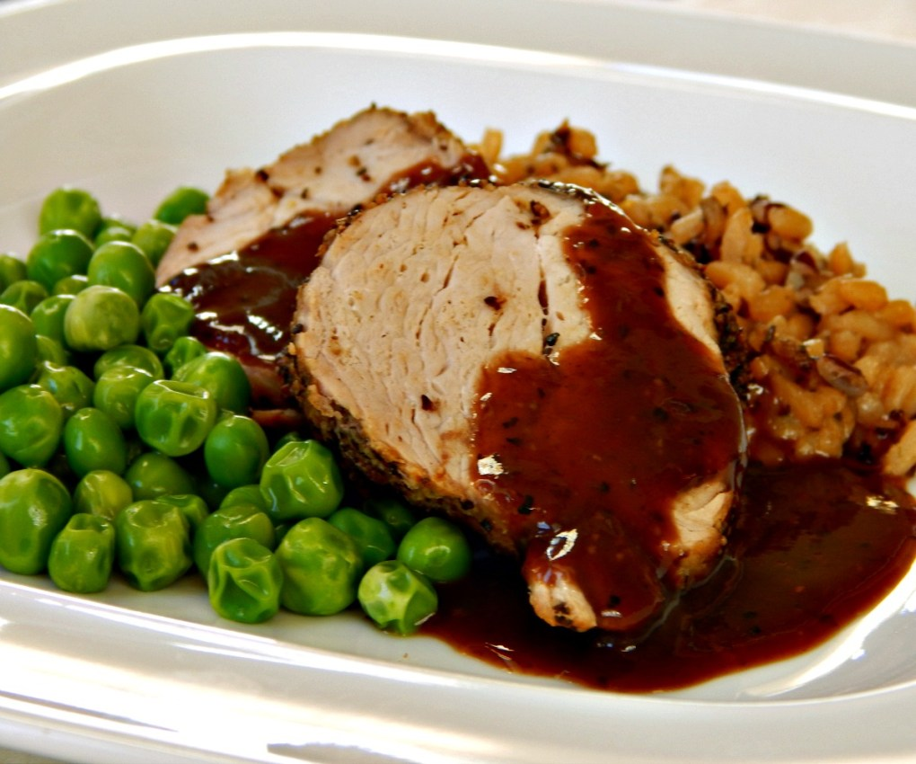 Pork Tenderloin with Sauce Poivrade thomas keller