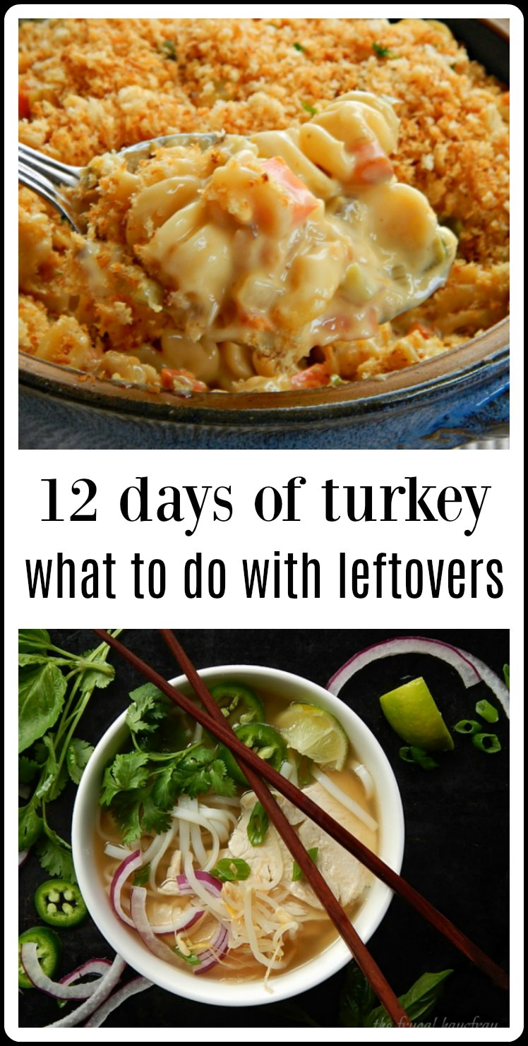 12 Days of Turkey - over 40 recipes from around the globe for your leftover turkey. From down-home to trendy you're gonna find inspiration here! #LeftoverTurkey