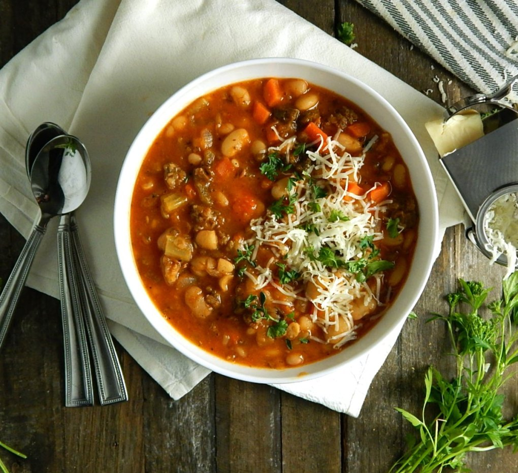 Minestrone with Sausage & Beans