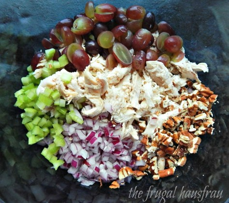 Chicken Salad Grapes and Pecans