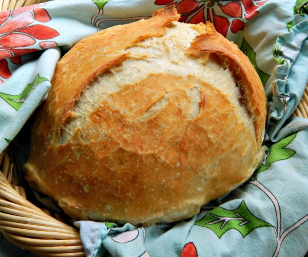 Crusty Bread, artisinal bread, no knead, overnight