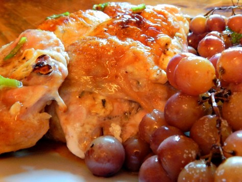 Feta & Herb Stuffed Chicken Breast with Roasted Red Grapes