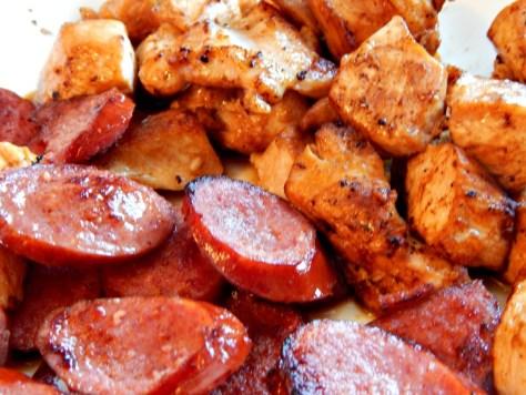 Jambalaya - perfectly cooked rice, make either roux or tomato based jambalaya