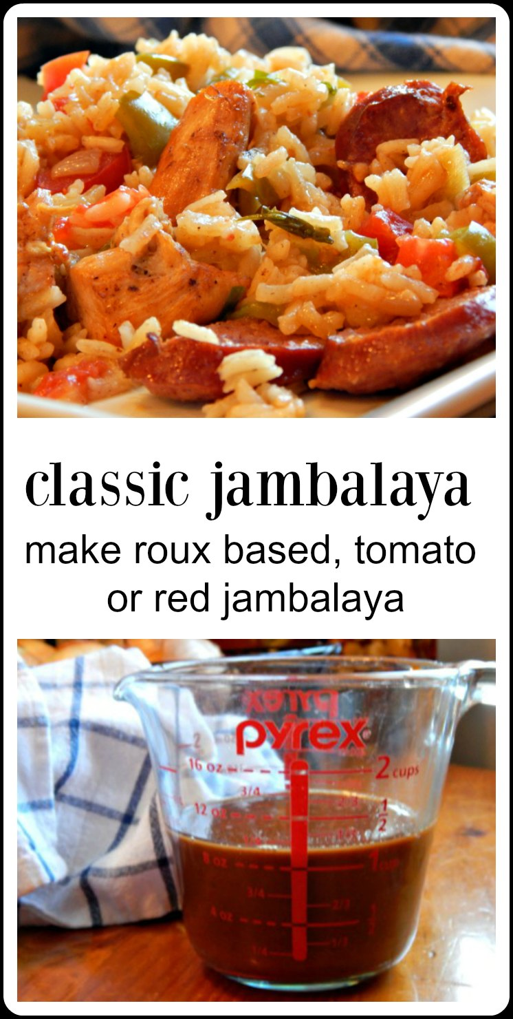 It's always a party when you make this Jambalaya Recipe - everything you need to know to make the best roux based Cajun Jambalaya with perfect rice! #ClassicJambalaya #CajunJambalaya #Roux