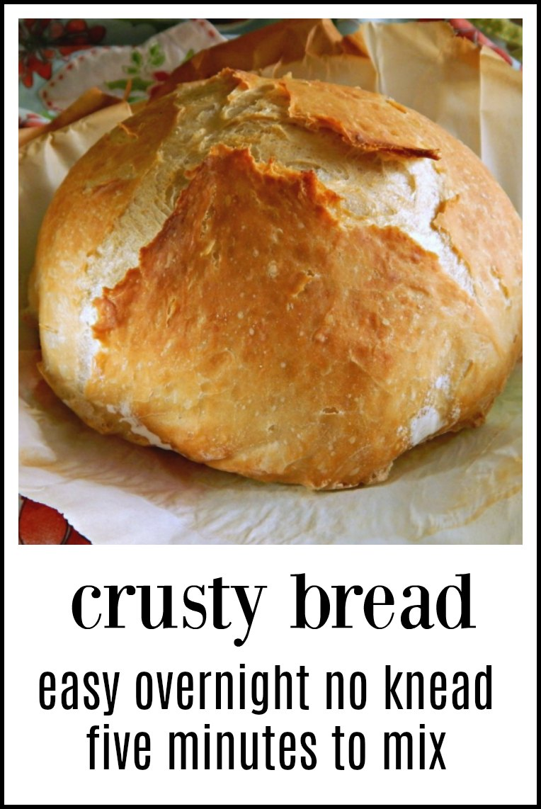 No-Knead Overnight Crusty Bread: It couldn't be easier or more