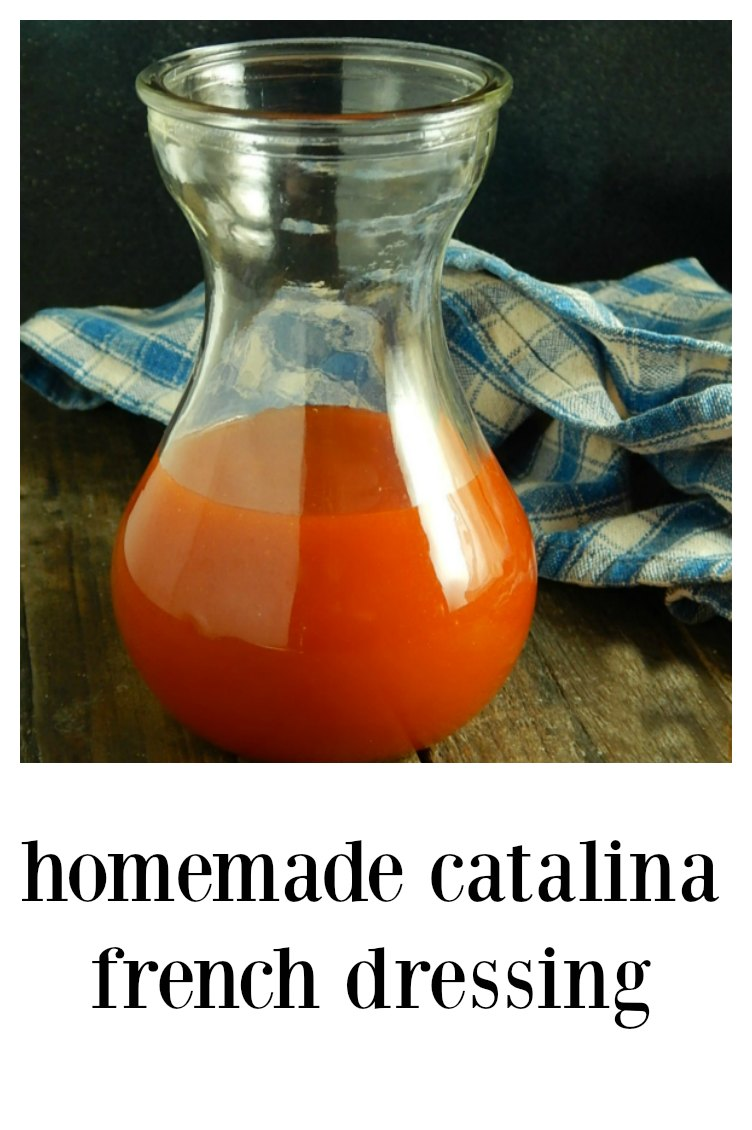 This retro Home-made Catalina French Dressing will take you right back to childhood and it's going to be even better than you remember! So easy, so simple. Dump in a handful of ingredients and shake away! #HomemadeFrenchDressing #HomemadeCatalinaDressing #HomemadeWesternDressing