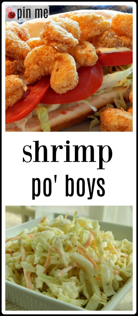 Shrimp Po' Boys - a Tyler Florence recipe and it is outstanding!!!