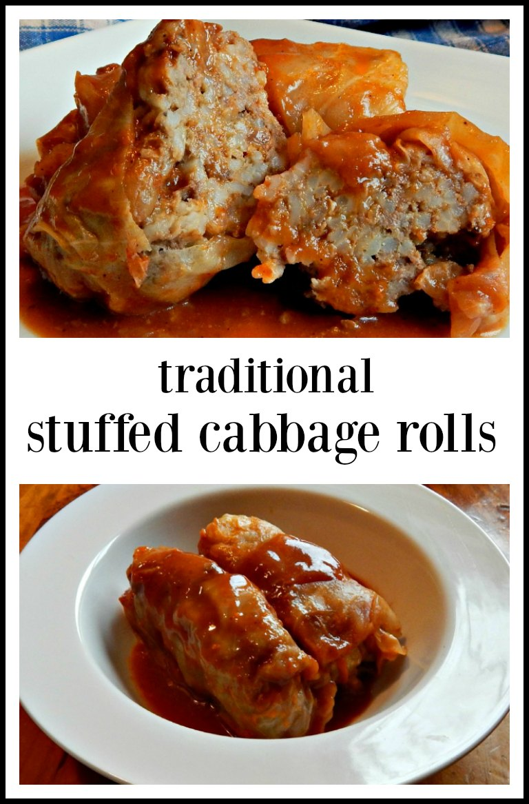 This is the recipe you want, Stuffed Cabbage Rolls with Sweet Sour Sauce! It tastes just like home; made throughout the Midwest. #StuffedCabbageRolls #TraditionalStuffedCabbageRolls
