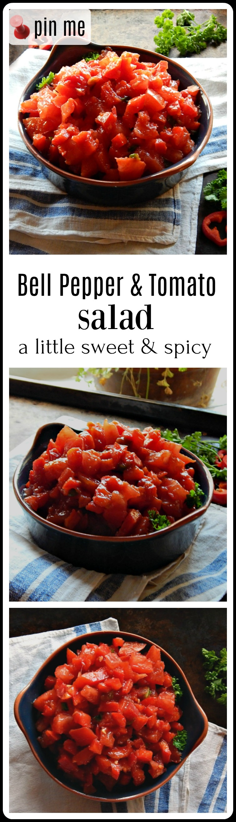 Bell Pepper and Tomato Salad