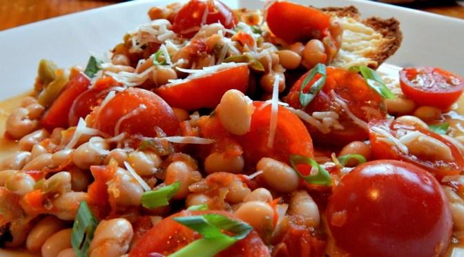 White Bean Ragout over Garlic Toasts . $4.23
