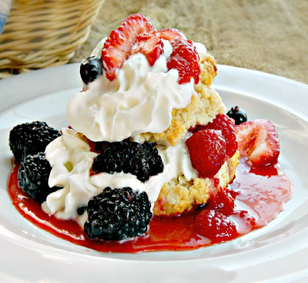 Three Berry Shortcakes