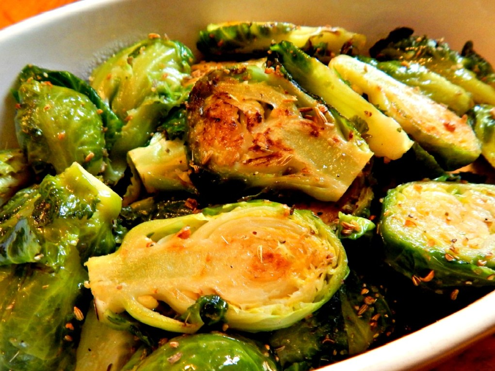 Brussels Sprouts with Fennel Rub