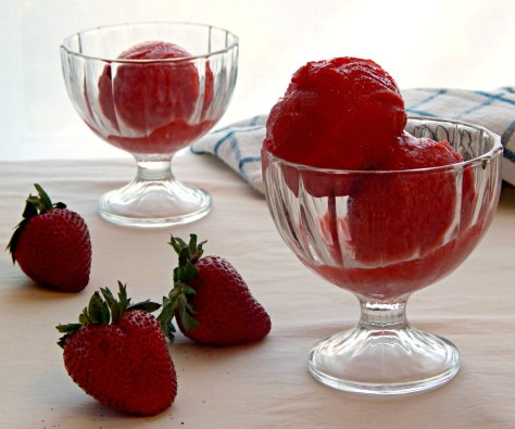 Fresh Strawberry Sorbet
