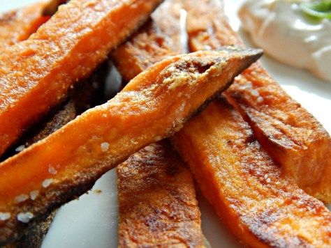 Stupid Simple Sweet Potato Fries - They're actually crispy!