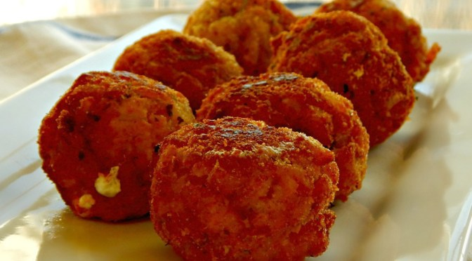 Arancini – Stuffed, Breaded and Fried Risotto Balls
