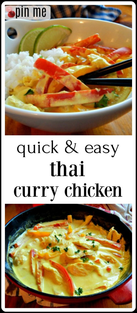Thai Chicken Curry - so easy and fast. Use any vegetables you like.