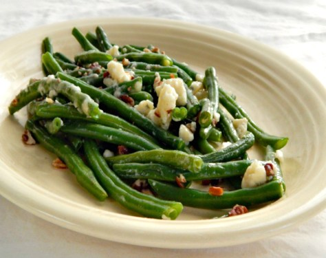 Green Beans with Blue Cheese or Gorgonzola