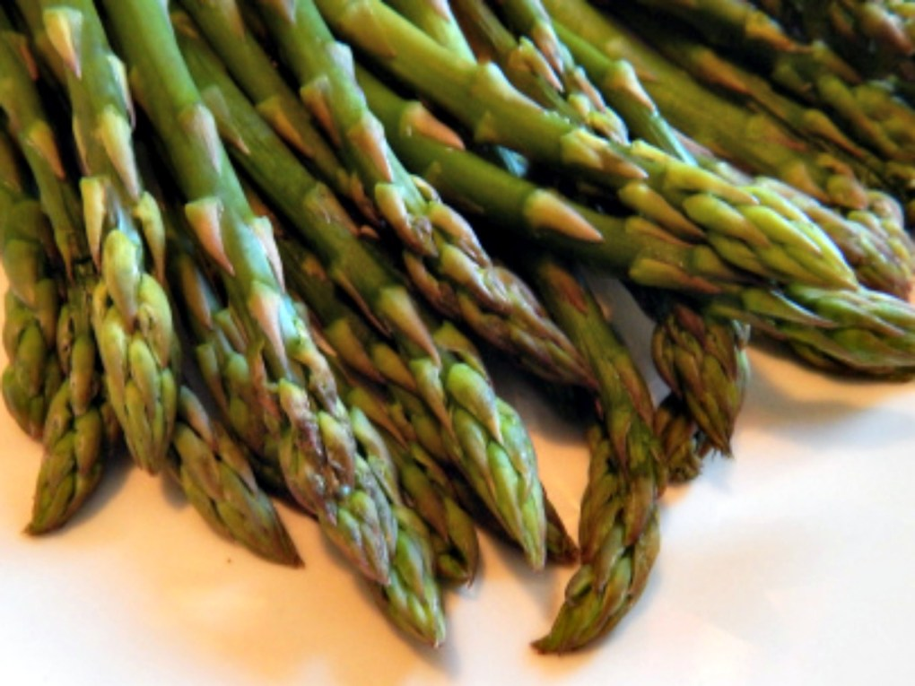 Asparagus Standing in the Microwave