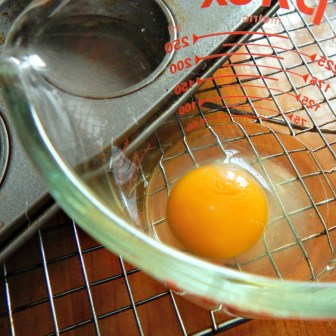 The Potato Nests shrink, so fill as close to the top as you can