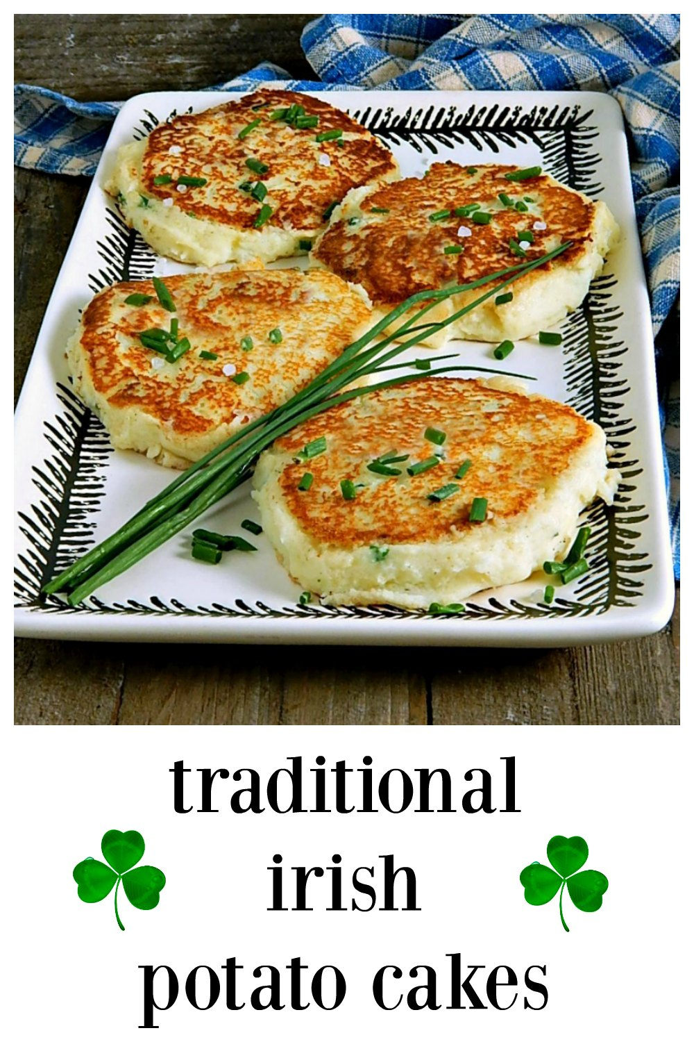 If there is anything better than mashed potatoes, it has to be Traditional Irish Potato Cakes! They're fab! Make them anytime you have leftover potatoes & instructions if youi want to start from scratch. #IrishPotatoCakes #PotatoCakes #LeftoverPotatoes #LeftoverPotatoes #Irish #PotatoRecipe #LeftoverMashedPotatoes