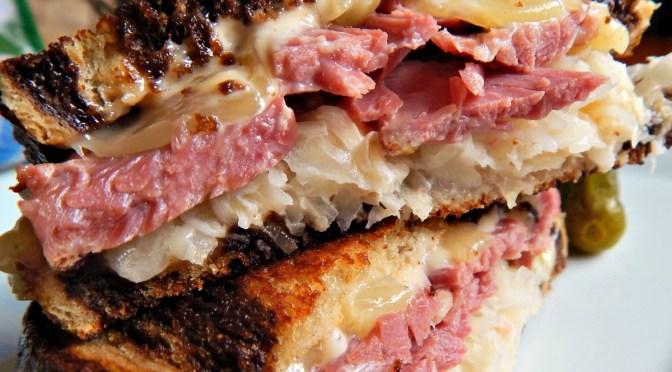 Reuben Sandwiches with Traditional Irish Potato Cakes