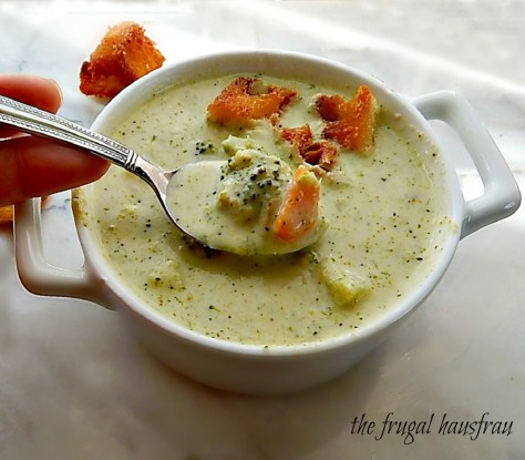 Cream of Broccoli Soup easy, fast, add cheese if you'd like