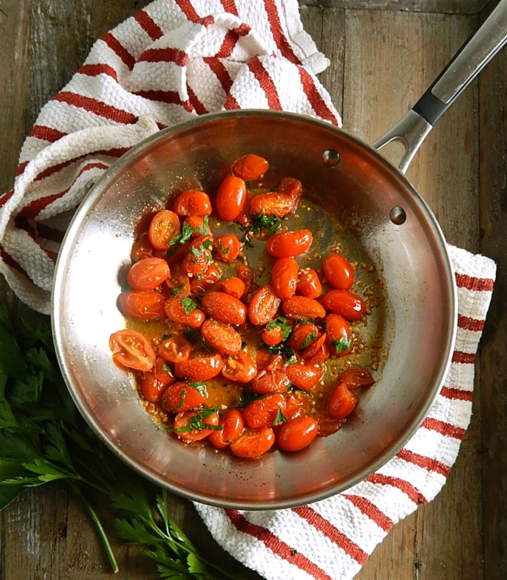 Pan Roasted Cherry Tomatoes