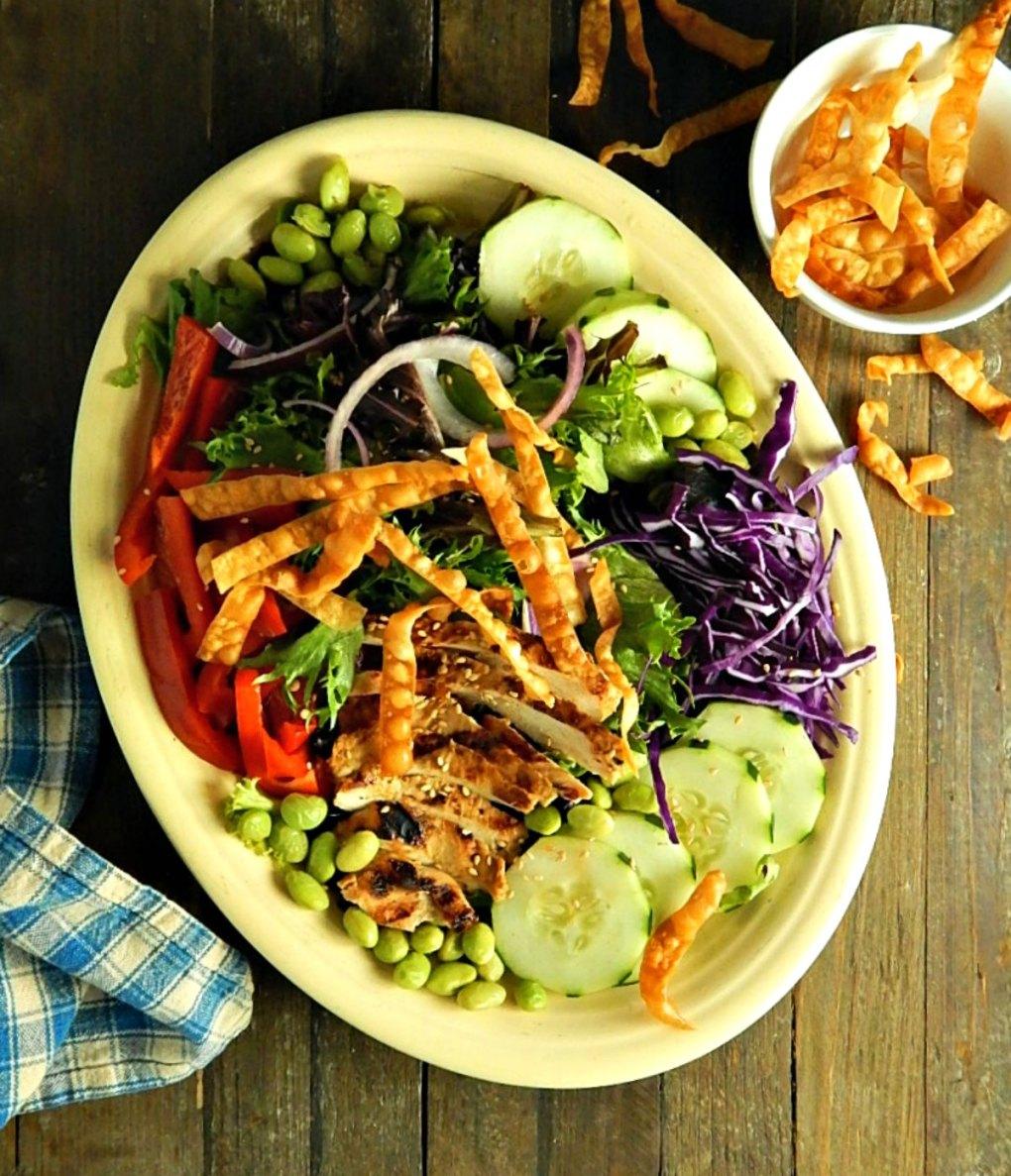 Grilled Sesame Chicken Salad