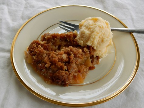 Any Fruit Crisp - this is Apple with the addition of Ginger Caramel