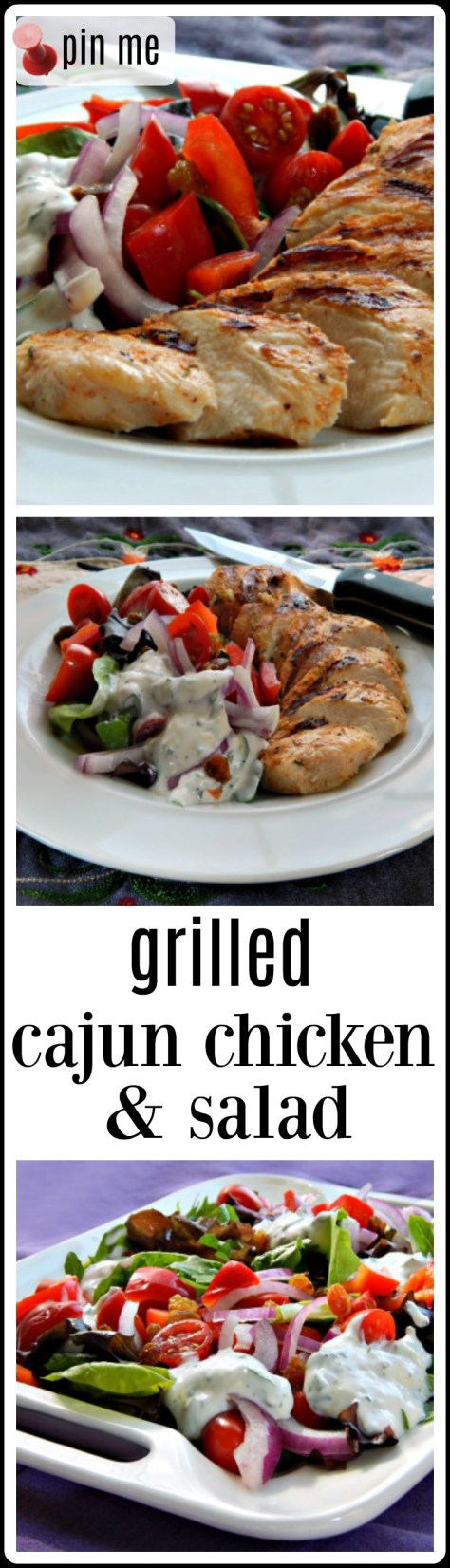 Grilled Cajun Chicken & Salad - make it as a salad or a bowl or a wrap...however you like!