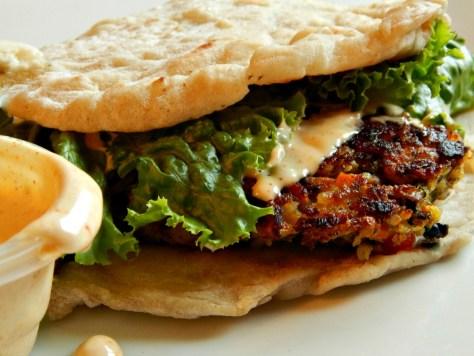 Sparrow Tavern's Veggie Burger