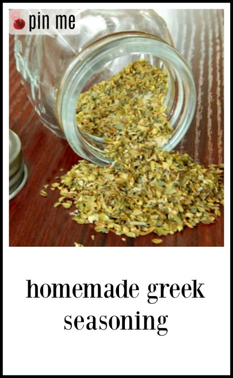 Greek Seasoning: Make your own - it's cheaper & fresher!