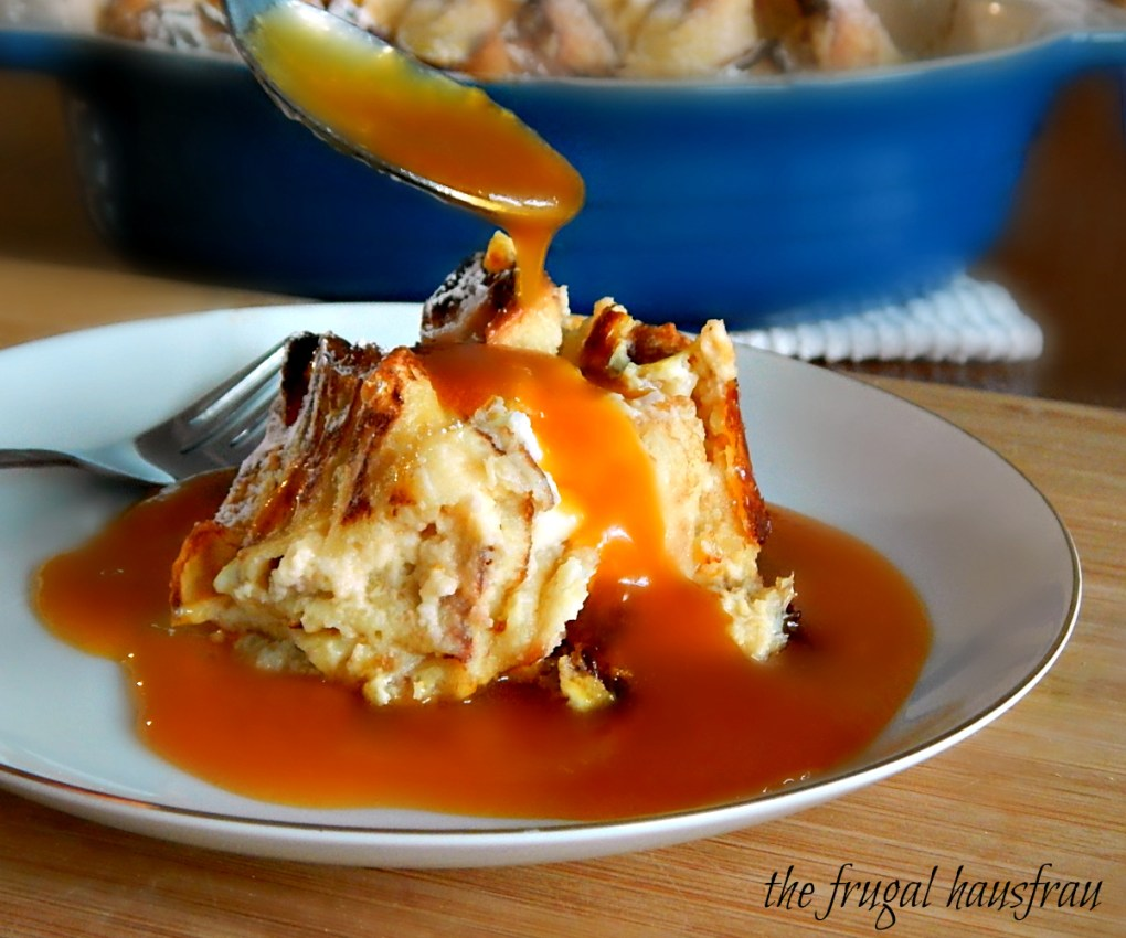 Austrian Crepes in Custard Sauce, served with Apricot Caramel Sauce