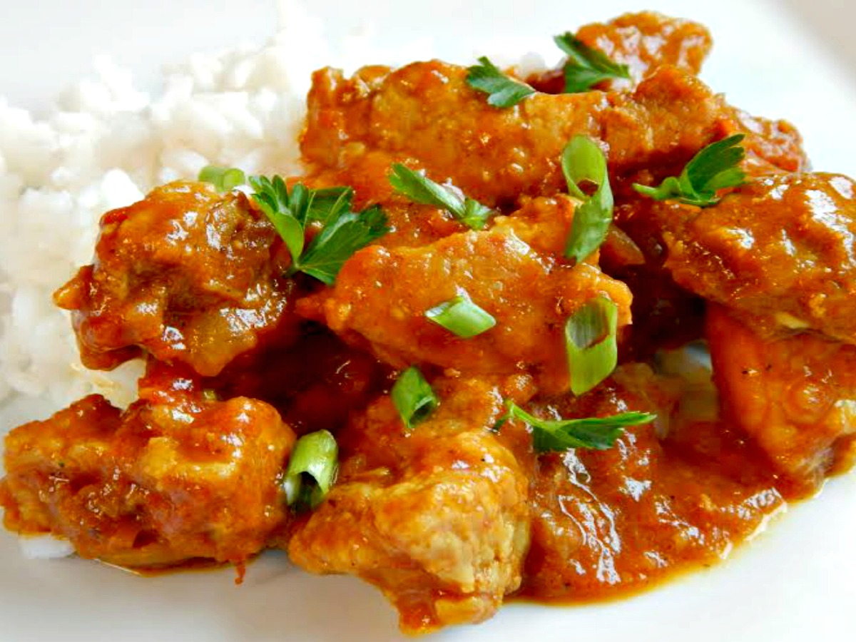 Curried Pork With Rice