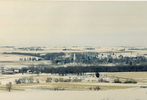 An arial view of Graettinger, Iowa