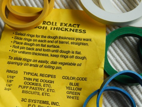 These rings will make sure everything is uniform when rolling dough.
