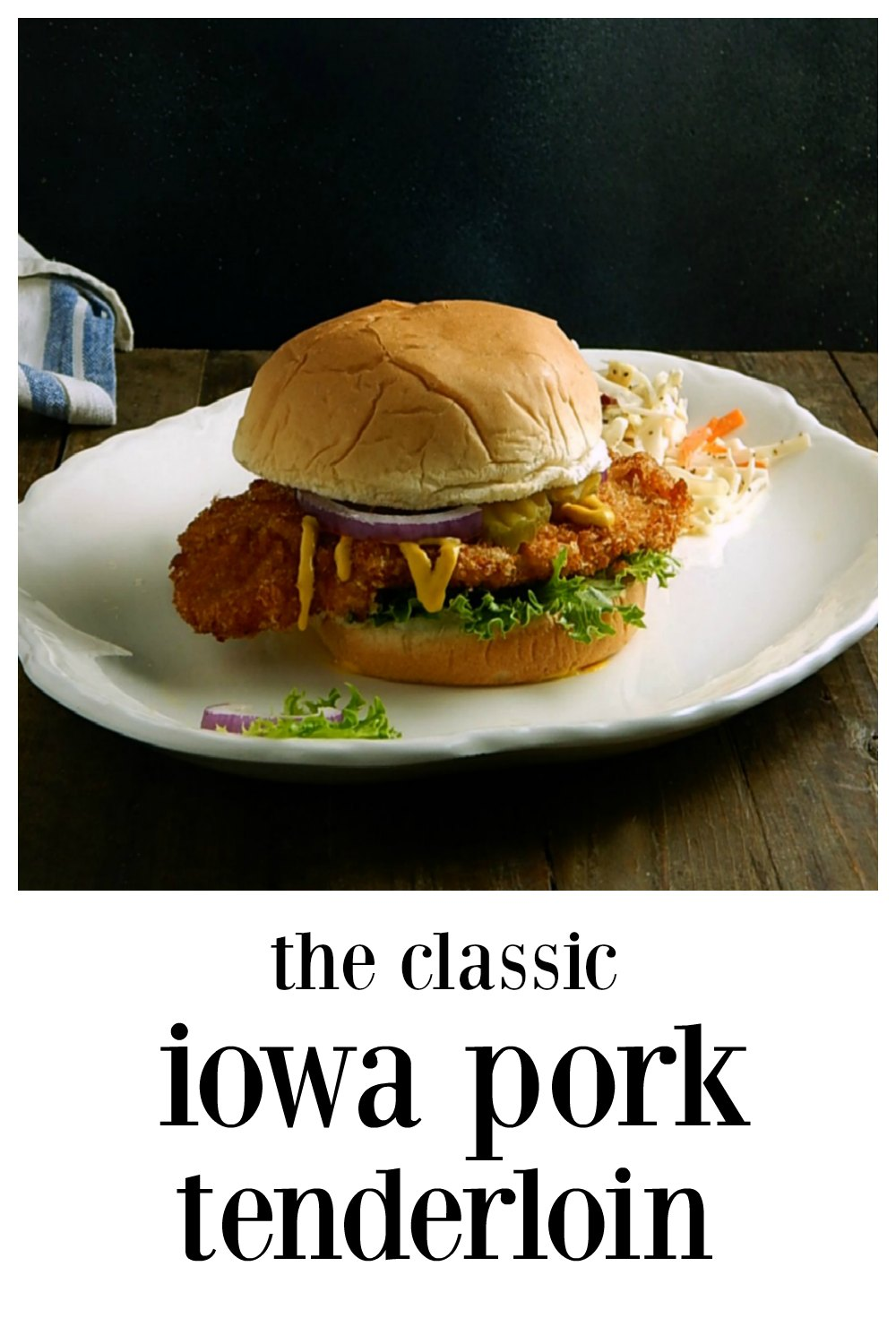 This is the classic Iowa Pork Tenderloin Sandwich, sometimes called the Breaded Pork Tenderloin or BPT for short! Done well it's sublime!! #PorkTenderloin #IowaPorkTenderloin #BPTSandwich