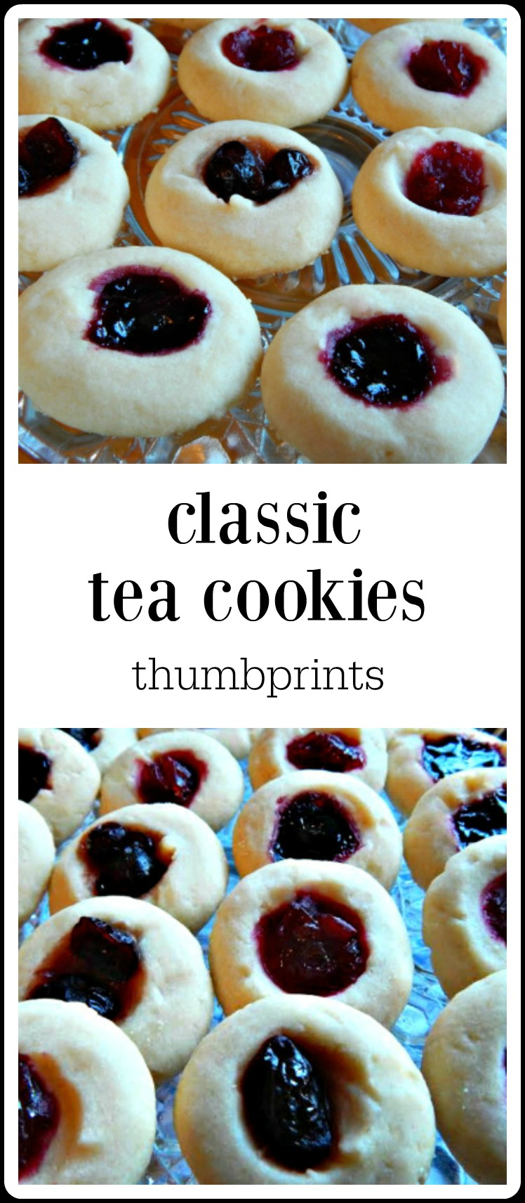 Classic Tea Thumbprint Cookies are such a perfect Holiday cookie! They\'re easy, festive and customizable and take so little skill (or time) to make! #ClassicTeaCookies #ThumbprintCookies #TeaCookiesThumbprint