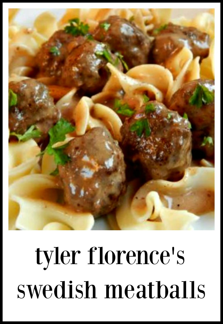 This recipe for Tyler Florence's Swedish Meatballs is going to make you want to lick your plate clean - and toss every other recipe you've ever used! #SwedishMeatballs #TylerFlorenceSwedishMeatballs