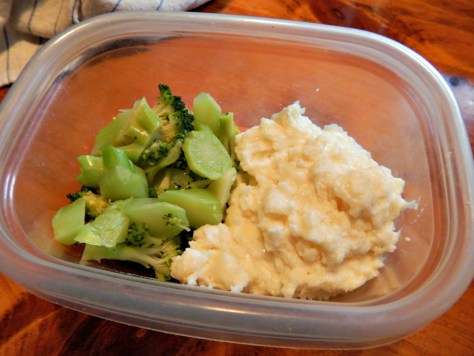 A little left over white sauce & a bit of broccoli - a souffle do make!