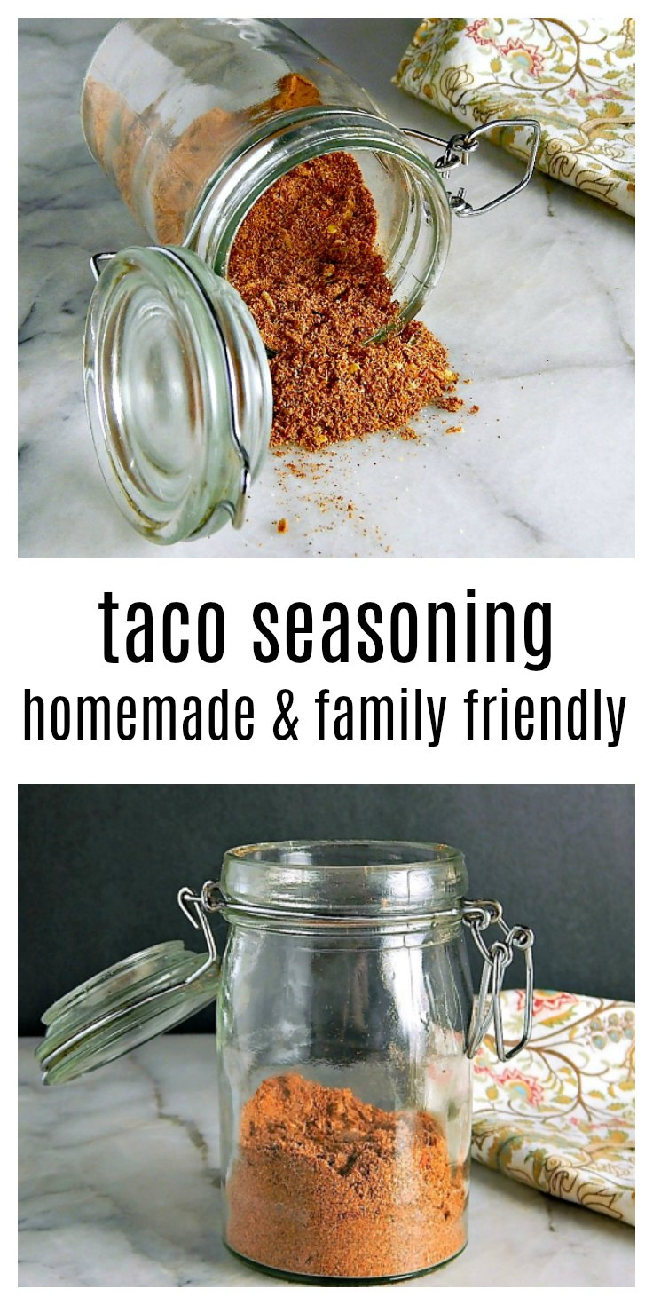 Don't spend hard earned money on bland taco seasoning - make your Taco Seasoning Homemade and customize to your taste & heat level. This is a godsend if someone suffers from allergies. #HomemadeTacoSeasoning