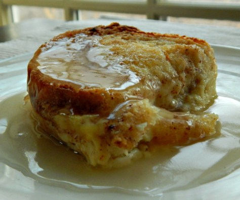 Bread & Butter Pudding with Whiskey Sauce - no Raisins